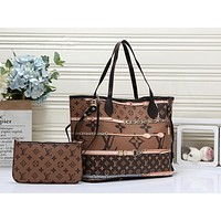 LV Louis Vuitton Hot Sale Women Leather Handbag Tote Shoulder Bag Purse Wallet