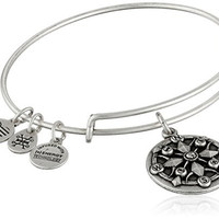 Alex and Ani Compass II Expandable Rafaelian Silver Bangle Bracelet