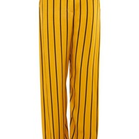 Striped Wide Leg Pants - Clothing