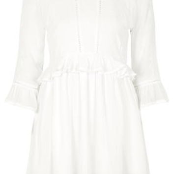 Embroidered Victoriana Dress - Cream