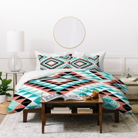 Jacqueline Maldonado Tribal Triangles 1 Duvet Cover