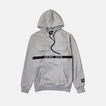 Strapped Up Fleece Hoodie Grey