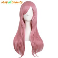 """MapofBeauty 28"""" Long Curly Cosplay wig Blonde Black Brown Pink Fake Hairpiece Hairstyle Synthetic Hair  Natural Wigs For Women"""