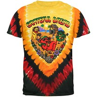 Grateful Dead - Positive Vibrations Tie Dye Mens T-Shirt