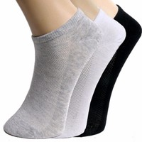 10Pcs=10Pairs Womens White Black Grey Ankle Socks Net Hole style Breathable Trainer Liner Ankle Socks Mens Womens Cotton socks