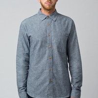 Linen Pinstripe Long Sleeve Shirt