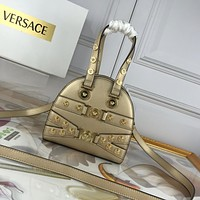 VERSACE WOMEN'S LEATHER Tribute HANDBAG INCLINED SHOULDER BAG