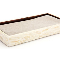 Veneer Towel Tray, White Almond, Bath Trays