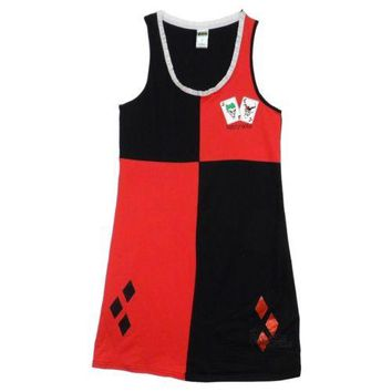 Harley Quinn Joker Batman DC Comics Licensed Tunic Tank Dress S-XL