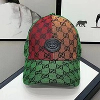 GG men's and women's fashion embroidery double baseball cap