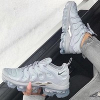Nike Air Vapormax Plus Wave Type Leisure Transparent air cushion sole Sneskers B-CSXY Grey