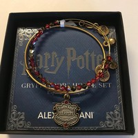 Alex and Ani Harry Potter Gryffindor Motto Set Bangle Two Tone Finish New with Box