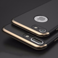 For iPhone 7 7pro Cases Luxury Ultra Thin Protective Back Cover 3 in 1 Case For iPhone 7 7pro Plating Armor Phone Fundas case