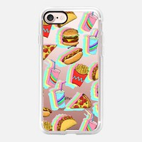 Rainbow Fast Food Fun on Clear iPhone 7 Case by Micklyn Le Feuvre | Casetify