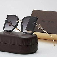 LV Louis Vuitton Casual Popular Summer Sun Shades Eyeglasses Glasses Sunglasses