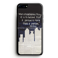 John Green Paper Towns Quotes Cover iPhone 7 Plus Case   aneend