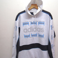 25% SALES ALERT Vintage 90's Adidas Big Logo Sweatshirt Hoodies Pull Over Sport Sweater Hip Hop Street Wear