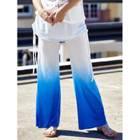 Stylish Elastic Waist Loose Fitting Ombre Ruched Women's Pants