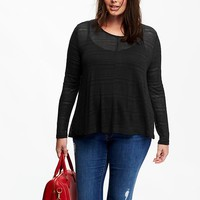 Old Navy Womens Plus Burnout Swing Tops
