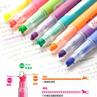 Set 10 colors Cute Assorted NEON color Multi Tip Highlighter Marker Pen Novelty Photo Album Stationery School Supplies P16