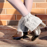 Boot Cuff/ Boot Toppers/ Leg Warmers/ Boot Socks/ Knit Legwarmers/ Cable Knitted/ Winter Accessories