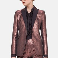 Women's Akris punto Metallic Tuxedo Jacket,