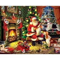 White Mountain Puzzles Checking It Twice Christmas Jigsaw Puzzle - Puzzle Haven