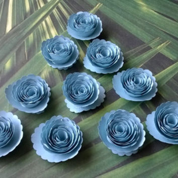 light blue Carnations Loose table confetti wedding paper flowers Bridal Shower Decor Mini roses Table scatter Baby nursery party decorations