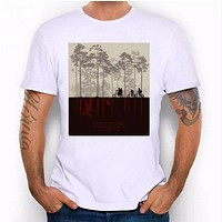 Men Hipster Inverted reflection in water Hip hop Printing Casual T-shirt