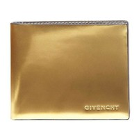 Metallic Gold Givenchy Lamb Leather Wallet