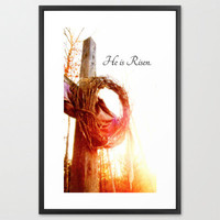 Religious Photography - He is Risen, Easter, Christmas, Jesus, Christianity, Faith, Cross, Crown, Peace
