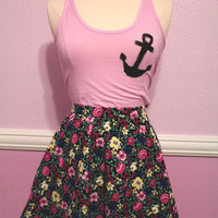 Anchor Pink Tank Top from Insparel