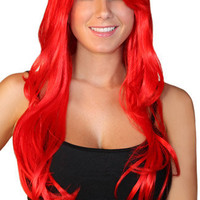 Deluxe Long Red Wig