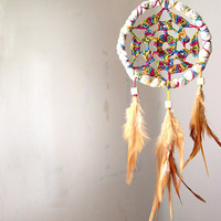 Dream Catcher Summer Rainbow With Natural Brown by perpetumobile