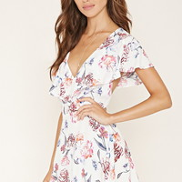 Flounced Floral Print Dress | Forever 21 - 2000168121