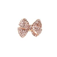 Champagne Bow Pave Ring