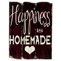 Red Happiness is Homemade Faux Wood Plank Sign | Shop Hobby Lobby
