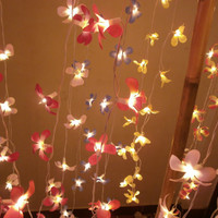 Frangipani Flower Hanging string lights for party and home decoration indoor and outdoor (20 Flowers/pack)