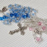 Catholic Rosary Birthstone Swarovski Select Your Month Crystal Handmade Unbreakable