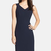 Women's Marc New York by Andrew Marc Seamed Crepe Sheath Dress,