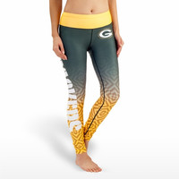 Green Bay Packers Womens Gradient Official NFL Print Leggings