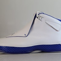 BC SPBEST Nike Air Jordan Retro 18 White Sport Royal 2018 AA2494-106 (NO Codes)