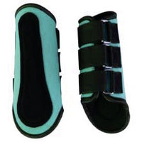 Saddles Tack Horse Supplies - ChickSaddlery.com Teal Neoprene Splint Boots <>