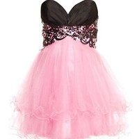 Stunning Lace Ball Gown Sweetheart Mini Prom Dress