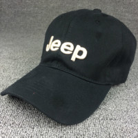 Black Color Unisex JEEP Embroidered Baseball Cap Hat