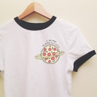 Rumi Planet Pizza Ringer Tee