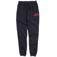 Pattern Jogger Sweatpants Navy