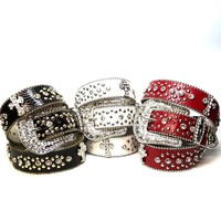 Cross Rhinestone Crystal Belt