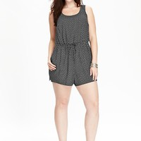 Old Navy Womens Plus Poplin Rompers