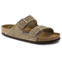Birkenstock Arizona Soft Footbed Suede Leather Taupe 0951301/0951303 Sandals - Ready Stock